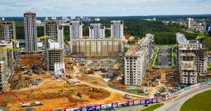 Byggande bostads- fjärdedel Arkivfoton