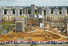 Byggande bostads- fjärdedel Royaltyfria Foton
