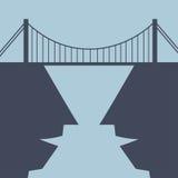 Byggande bro mellan meningar Fotografering för Bildbyråer