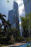 byggande centralt Hong Kong kontor royaltyfria foton