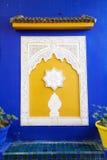 Byggande detalj på Jardinen Majorelle i Marrakesh Royaltyfri Fotografi