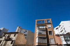Byggande detaljer i Santa Catalina Arkivfoto