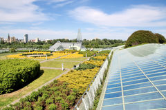 byggande ekologiskt modernt Royaltyfri Fotografi