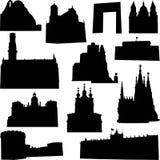 byggande european royaltyfri illustrationer