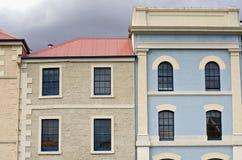 byggande färgglada facades hobart tasmania royaltyfri foto