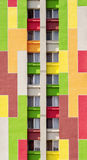 byggande färgrik detalj Arkivbilder