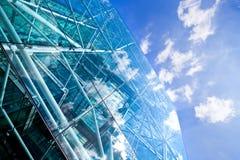byggande företags glass stål Arkivfoton