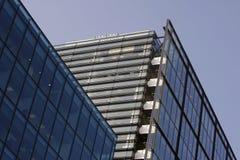 byggande företags glass stål Arkivfoto