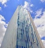 byggande företags linje modern kontorssky Royaltyfri Bild
