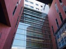 byggande företags modernt kontor Arkivbild