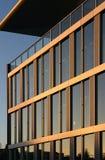 byggande företags solnedgång Arkivfoton