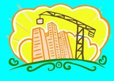 byggande gå högt stiger upp vektor illustrationer