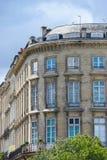 Byggande hörn, verkliga gamla byggande Frankrike Arkivbild