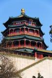 byggande high av mest slottsommar Arkivbild