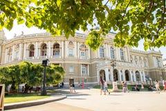 byggande historisk husodessa opera ukraine Arkivbilder