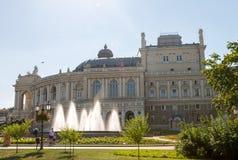 byggande historisk husodessa opera ukraine Royaltyfri Foto