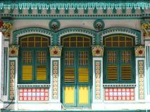 byggande historiska singapore Arkivbild