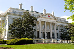 byggande huvudkorsdc röda USA washington Royaltyfria Bilder