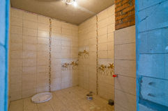 Byggande hyror för ett badrum Fotografering för Bildbyråer