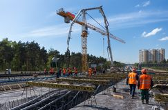 Byggande i Polen Fotografering för Bildbyråer