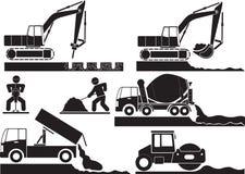 Byggande i Polen stock illustrationer