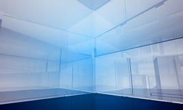 byggande inomhus kontorsavstånd Arkivfoton