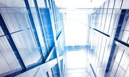 byggande inomhus kontorsavstånd Arkivbild