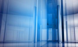 byggande inomhus kontorsavstånd Fotografering för Bildbyråer