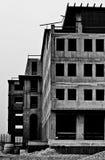 byggande kärn- stolpe Arkivfoto