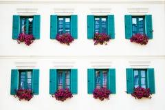 byggande karlovy gammala varierar fönster Royaltyfria Bilder