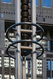 Byggande konst Japan Tokyo för storstads- regering arkivbild