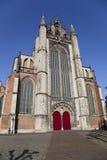byggande kyrklig stad leiden Arkivfoto