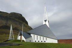 byggande kyrkliga iceland royaltyfria bilder