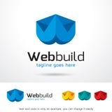 Byggande Logo Template Design Vector för bokstavsW-rengöringsduk Stock Illustrationer