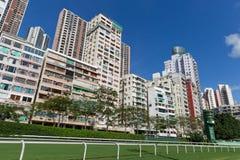 byggande lycklig Hong Kong bostadsdal Arkivfoton