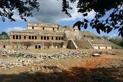 byggande mayan gammalt Royaltyfri Fotografi