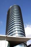 byggande modern round Arkivbild