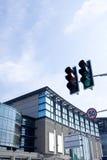 byggande modern signaleringstrafik Arkivbild