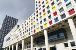 byggande modern skola Arkivbilder