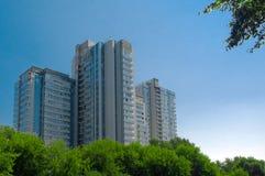 byggande moderna moscow Fotografering för Bildbyråer