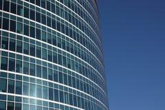 byggande moderna moscow fönster Arkivbild