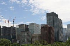 byggande moderna tokyo Arkivbild