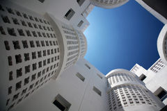 byggande modernt bostads royaltyfri fotografi