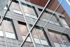 byggande modernt fönster royaltyfria bilder