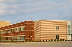 byggande ny skola Arkivfoto