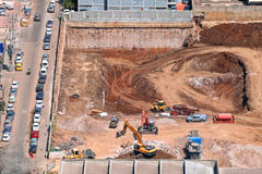Byggande nya betonghus Arkivfoton