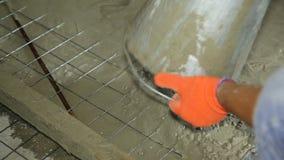 Byggande nya betonghus stock video