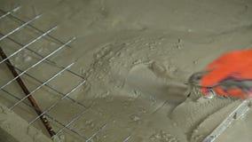 Byggande nya betonghus lager videofilmer