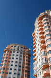 byggande nytt bostads Arkivbild