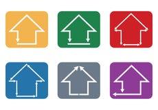 Byggande och hussymbol Arkivfoton